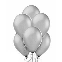 Balony lateksowe duże - 12 cali - srebrne - 100 szt.