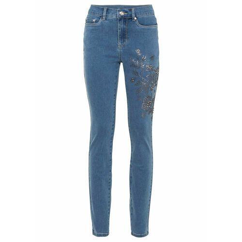 Spodnie damskie, Dżinsy multi-stretch STRAIGHT bonprix niebieski