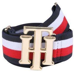 TOMMY HILFIGER Pasek 'New Fashion Elastic Belt ' ciemny niebieski / czerwony / biały