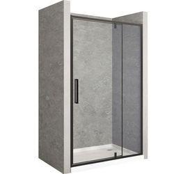 Drzwi prysznicowe z czarnym profilem 150 cm Rapid Swing Rea UZYSKAJ 5 % RABATU NA ZAKUP