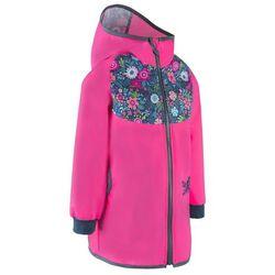 Unuo dziewczęcy płaszcz softshell STREET 98 - 104 różowy