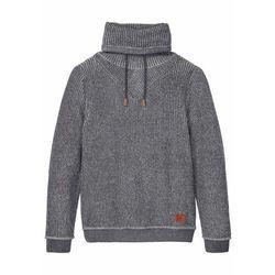 Sweter z golfem bonprix szary łupkowy