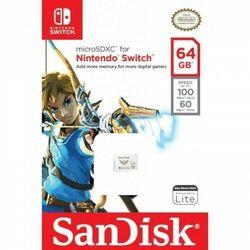Karta pamięci MicroSDXC SanDisk NINTENDO SWITCH microSDXC 64 GB 100/60 MB/s A1 C10 V30 UHS-I U3