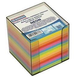 Kostka DONAU nieklejona, w pudełku, 95x95x95mm, ok. 800 kart., neon, mix kolorów