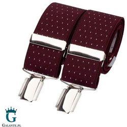 Szelki do spodni burgund w kropki br-017