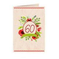 Pozostałe artykuły szkolne, Karnet drewniany C6 + koperta Urodziny 60