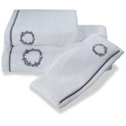 Ręcznik kąpielowy SEHZADE 85x150cm Biały / srebrny haft