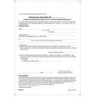 Druki akcydensowe, ORZECZENIE lekarskie do celów sanitarno-epidemiologicznych [Pu/Ksn-3]