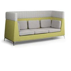 Fotel, 3 miejsca, szary/zielony