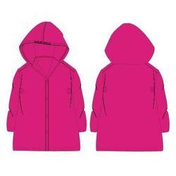 Płaszcz przeciwdeszczowy z kapturem Różowy
