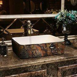 MARRONA - nablatowa umywalka artystyczna ręcznie wykończona rabat 20%