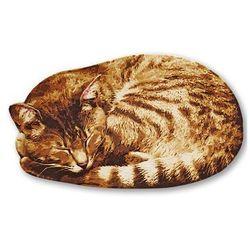 """Wycieraczka """"Kot"""" bonprix brązowy"""