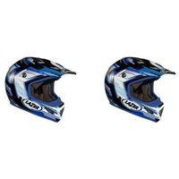 Kaski motocyklowe, Kask mot.LAZER MX7 Evo Space Runner biały/nieb.