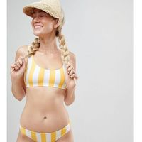 Stroje kąpielowe, Monki block stripe bikini bottom in yellow stripe - Multi