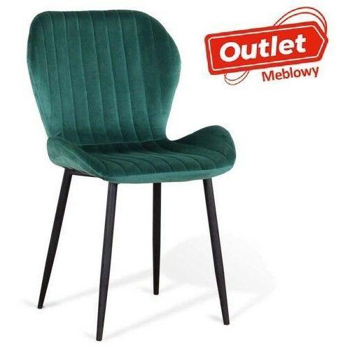 Krzesła, KRZESŁO TAPICEROWANE ▪️ ART223C ▪️ WELUR, ZIELONE