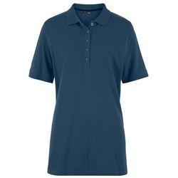 Shirt polo pique, rękawy do łokcia bonprix ciemnoniebieski