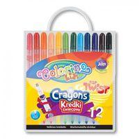 Kredki, Kredki świecowe wykręcane Colorino 12 kolorów