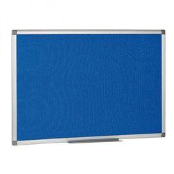Tablica tekstylna, niebieska, 120x900 mm