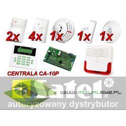 Alarm Satel CA-10 LCD, 6xLuna, 4xTopaz, TSD-1, FD-1, DG-1 TCM, syg. zew. SD-6000