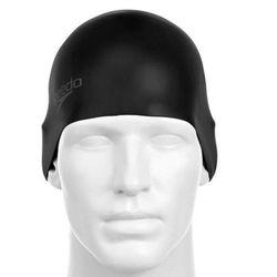 Czepek Speedo Moulded silicone cap black - Czarny