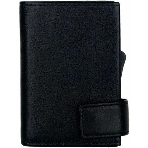 Etui i pokrowce, SecWal SecWal 1 Kreditkartenetui Geldbörse RFID Leder 9 cm schwarz ZAPISZ SIĘ DO NASZEGO NEWSLETTERA, A OTRZYMASZ VOUCHER Z 15% ZNIŻKĄ