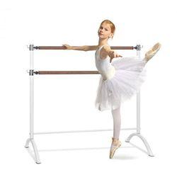 KLARFIT Barre Anna, podwójny drążek baletowy, 110 x 113 cm, średnica 2 x 38 mm, biały
