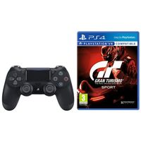 Gamepady, Sony DualShock 4 v2 (czarny) + Gran Turismo Sport
