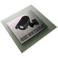 Oznakowanie informacyjne i ostrzegawcze, Obiekt Monitorowany - Tabliczka Piktogram Dibond