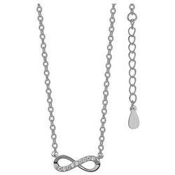 Rodowany srebrny naszyjnik gwiazd nieskończoność infinity celebrytka srebro 925 Z1107N