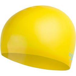 speedo Plain Moulded Czepek silikonowy Dzieci, empire yellow/chill blue 2020 Czepki pływackie Przy złożeniu zamówienia do godziny 16 ( od Pon. do Pt., wszystkie metody płatności z wyjątkiem przelewu bankowego), wysyłka odbędzie się tego samego dnia.