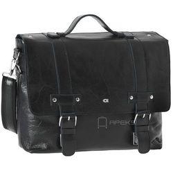 Daag Jazzy Party 16 torba męska skórzana na laptopa 13'' / czarna