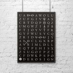 Plakat dekoracyjny 50x70 cm DO WHAT YOU LOVE czarny by DekoSign