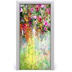 Nalepka Naklejka fototapeta na drzwi Kolorowe kwiaty