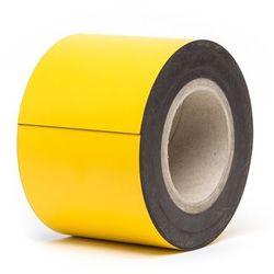 Magnetyczna tablica magazynowa, żółte, rolka, wys. 100 mm, dł. rolki 10 m. Zapew