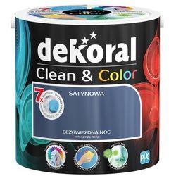 Satynowa farba lateksowa Dekoral Clean&Color bezgwiezdna noc 2 5 l
