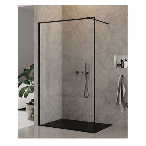 Ścianki prysznicowe, Ścianka 100 cm EXK-0107 New Modus Black New Trendy UZYSKAJ RABAT NA KABINĘ W SKLEPIE