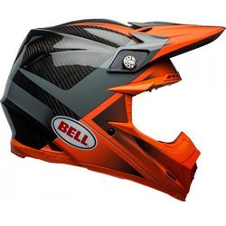BELL MOTO-9 FLEX HOUND ORANGE/CHARCOAL Kask Off-road