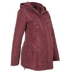 Płaszcz ciążowy pikowany z regulacją obwodu bonprix czerwony klonowy