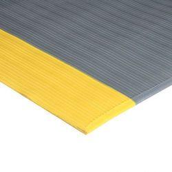 Mata zapobiegająca zmęczeniu prążkowana, z żółtymi krawędziami, 0,9 x 10 m