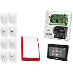 Zestaw alarmowy: Płyta główna INTEGRA 32, Manipulator dotykowy INT-TSG-BSB, 8x Czujka BINGO, Sygnalizator zewnetrzny SPL-5010 R, Akcesoria