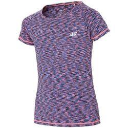 Koszulka sportowa dla małych dziewczynek JTSD301 - MULTIKOLOR MELANŻ