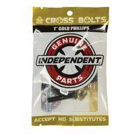 Pozostały skating, montażówki INDEPENDENT - Genuine Parts Phillips Hardware 1 in Black-Gold (88781)
