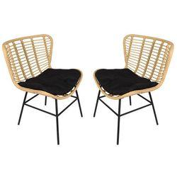 Zestaw 2 foteli ogrodowych NICOYA z technorattanu
