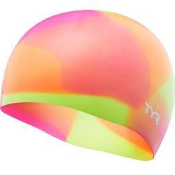 TYR Tie Dye Czepek silikonowy Dzieci, yellow/pink/orange 2019 Czepki pływackie Przy złożeniu zamówienia do godziny 16 ( od Pon. do Pt., wszystkie metody płatności z wyjątkiem przelewu bankowego), wysyłka odbędzie się tego samego dnia.