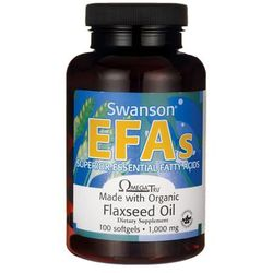 Swanson Flaxseed Oil Omega 3-6-9 1000mg 100 kaps.