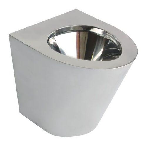 Miska WC stojąca Faneco ze stali nierdzewnej stal szlachetna matowa