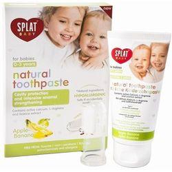 Splat Baby naturalna pasta do zębów dla dzieci z szczoteczką do masażu smak Apple & Banana (For Babies Aged 0-3 Years) 40 ml