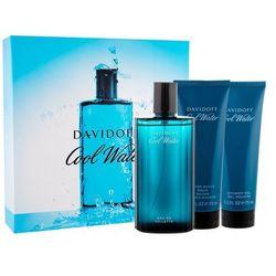 Davidoff Cool Water zestaw Edt 125ml + 75ml Balsam po goleniu + 75ml Żel pod prysznic dla mężczyzn