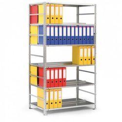 Regał na segregatory COMPACT, 6 półek, 1850x1250x600 mm, szary, podstawowy