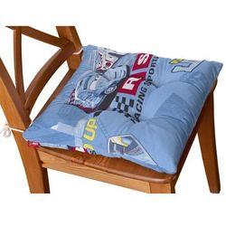 Dekoria Siedzisko Jacek na krzesło, samochody na niebieskim tle, 38x38x8cm, Freestyle do -30%